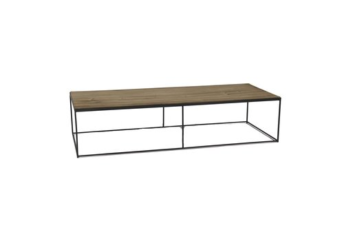 Homestore STRUCTURE coffee table in black metal & natural wood
