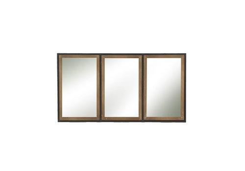 Homestore STRUCTURE 3 part mirror in metal & wood -  M 82x44x3cm