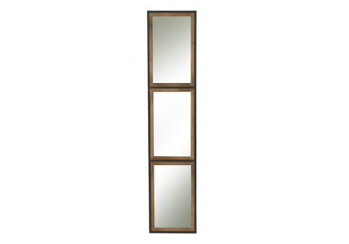 Homestore STRUCTURE 3 part mirror in metal & wood - L 27x130x3cm