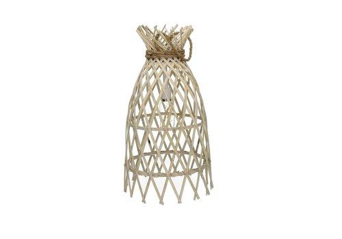 Homestore IRENE hanging lamp on battery in bamboo & rope M - Ø27xh50 cm