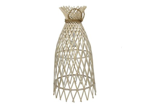 Homestore IRENE hanging lamp on battery in bamboo & rope L - 32,5xh60 cm