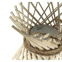 IRENE hanging lamp on battery in bamboo & rope L - 32,5xh60 cm