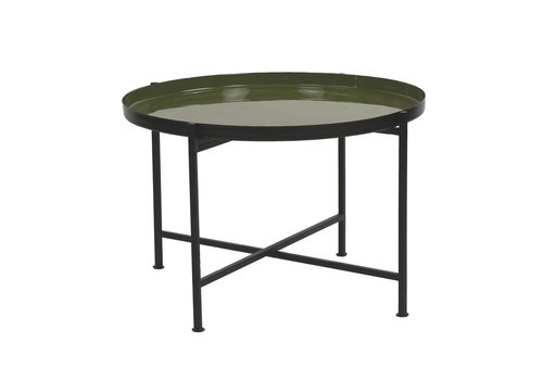 Homestore FAVORIT' tray on stand in Olive - 63x63x40