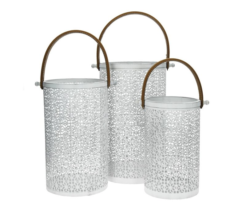 MATATA set of 3 lanterns in white