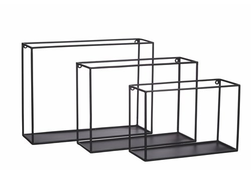 Homestore FIGURE set of 3 metal wall rack