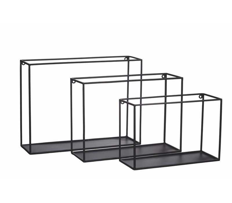 FIGURE set of 3 metal wall rack