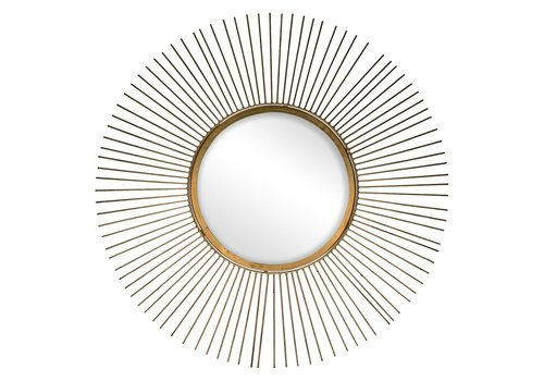 Homestore SUN mirror in gold - diam 65 cm