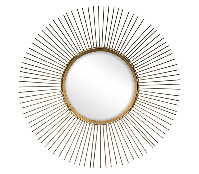 SUN mirror in gold - diam 65 cm