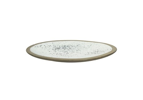 Homestore BOLDNESS decorative tray with spots in white & black