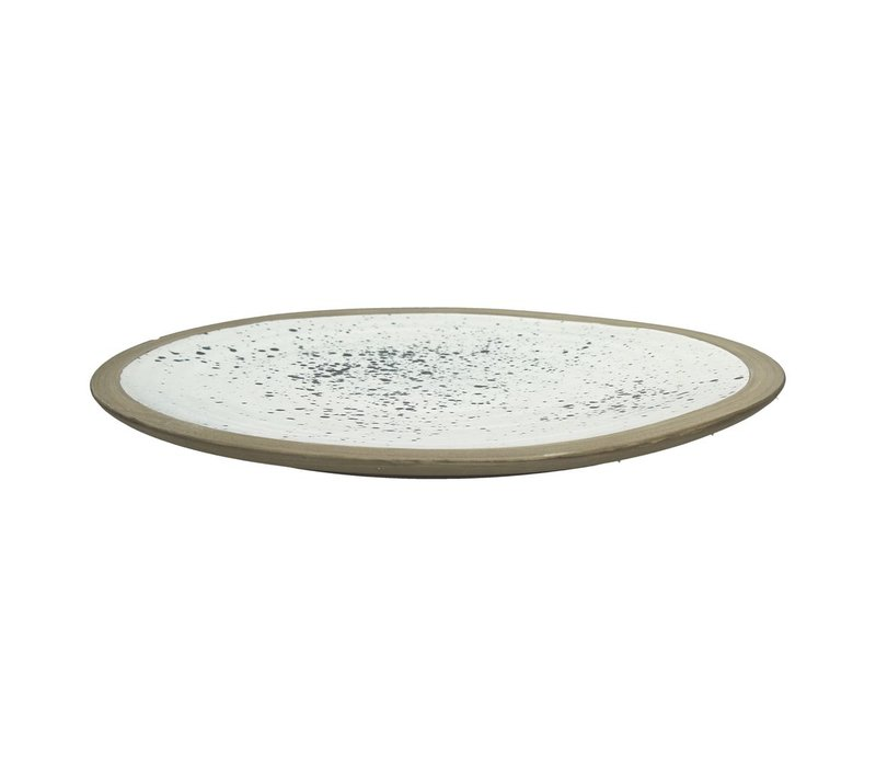 BOLDNESS decorative tray with spots in white & black