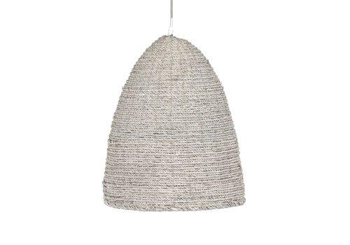 Homestore BORIE hanging lamp - hemp rope & metal