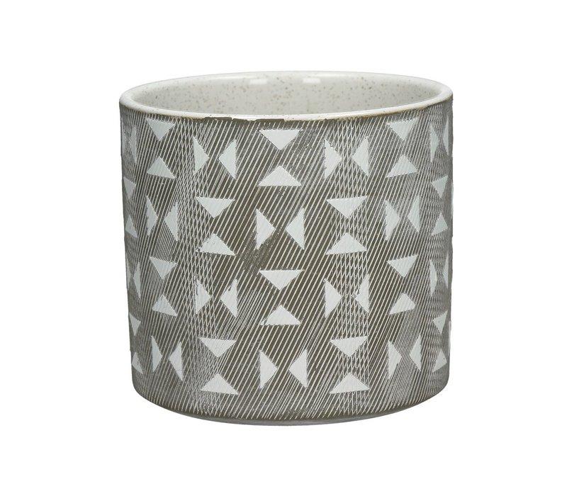 EPHESE flower pot in triangle pattern