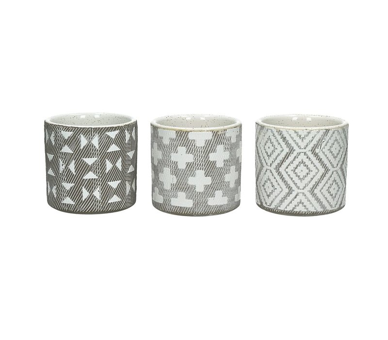 EPHESE set of 3 flowerpots