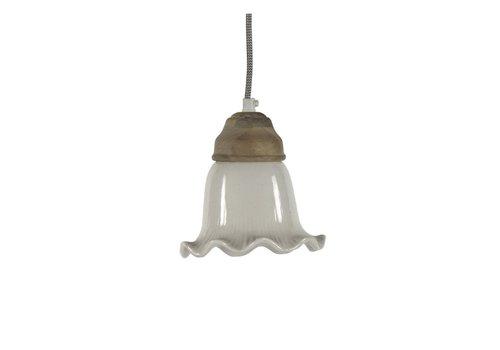 Homestore GIULIA hanging lamp in white - diam 16xh16 cm