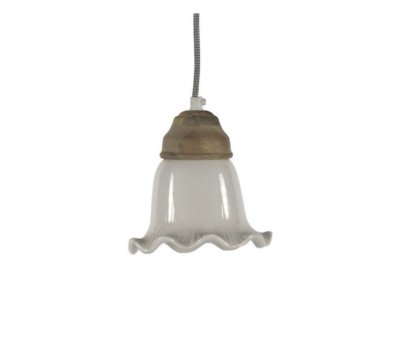 GIULIA hanging lamp in white - diam 16xh16 cm