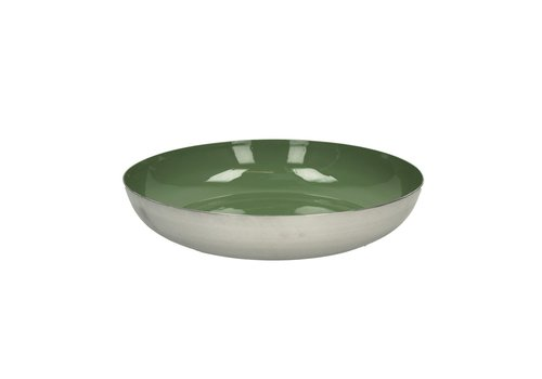 Homestore BAHAI deco plate in green - 32x7 cm