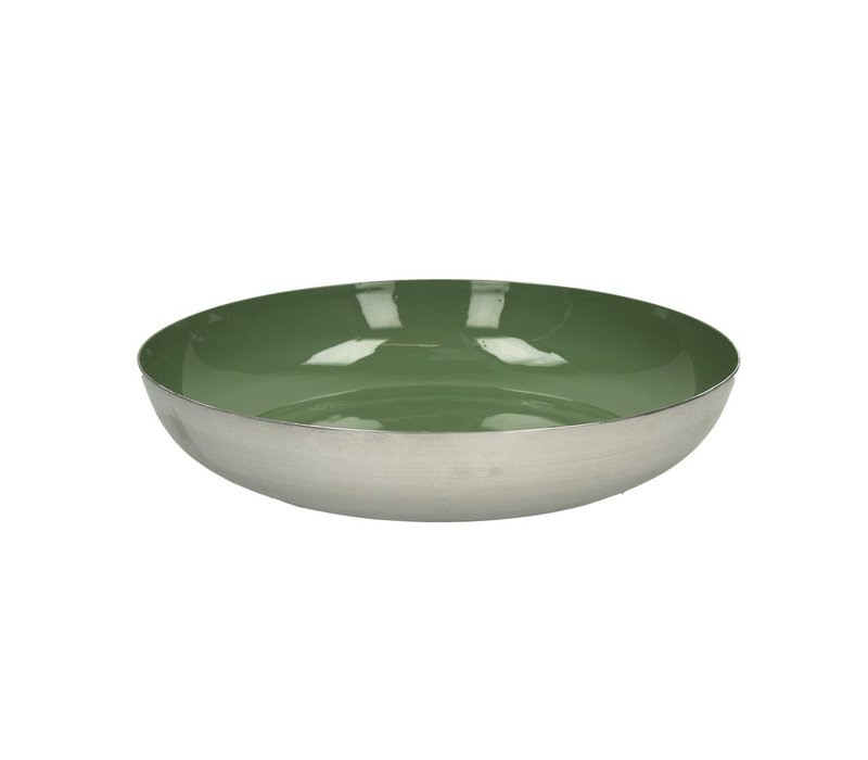 BAHAI deco plate in green - 32x7 cm