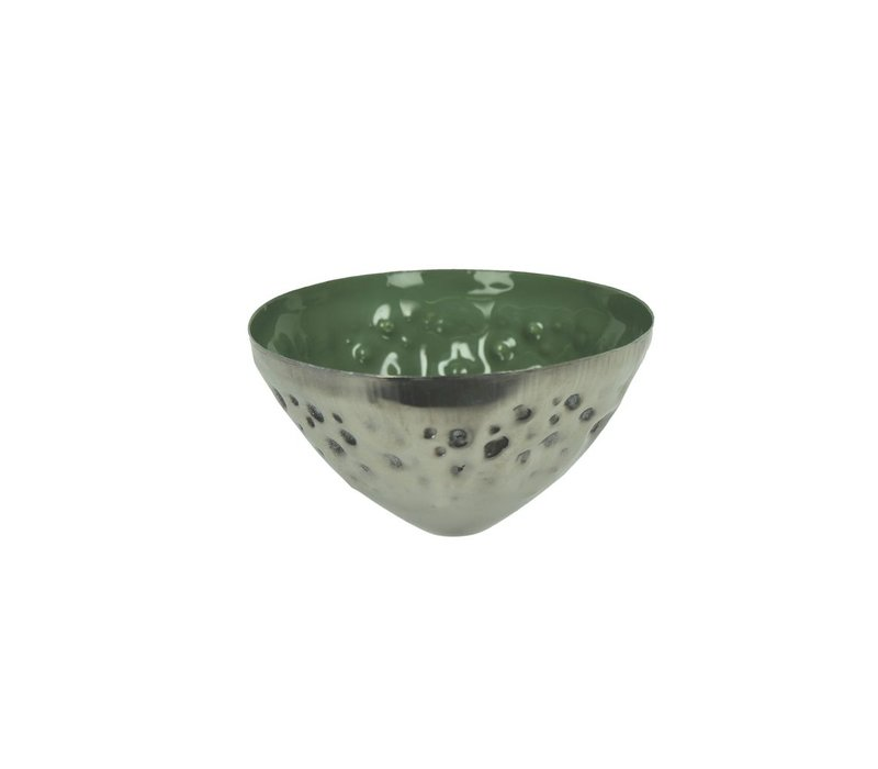 BAHAI floating candle holder in green - 8x5 cm