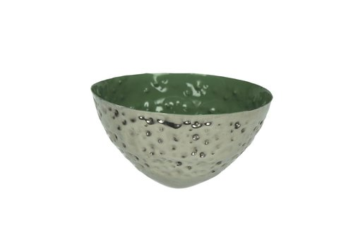 Homestore BAHAI floating candle holder in green - 12x6 cm
