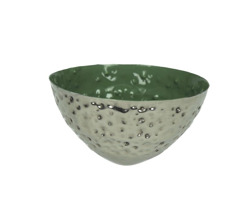 BAHAI floating candle holder in green - 12x6 cm