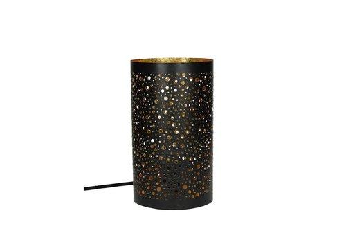 Homestore COSMOS Lamp in black & gold (E27)