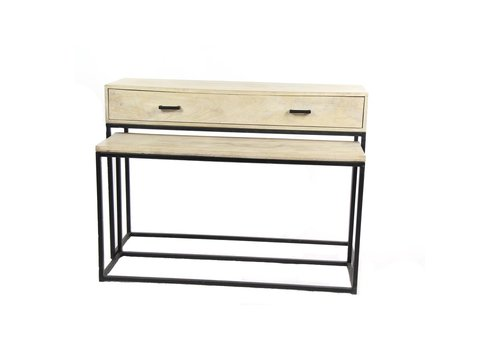 Homestore PURE set of 2 desk & console in mango wood