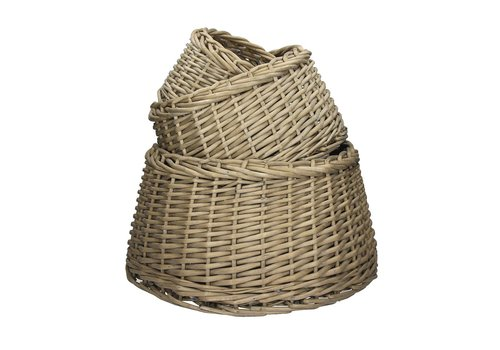 Homestore TWAN - set of 3 round baskets in grey willow