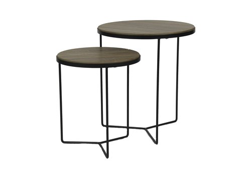 Homestore MISO setof 2 coffee tables - oak veneer