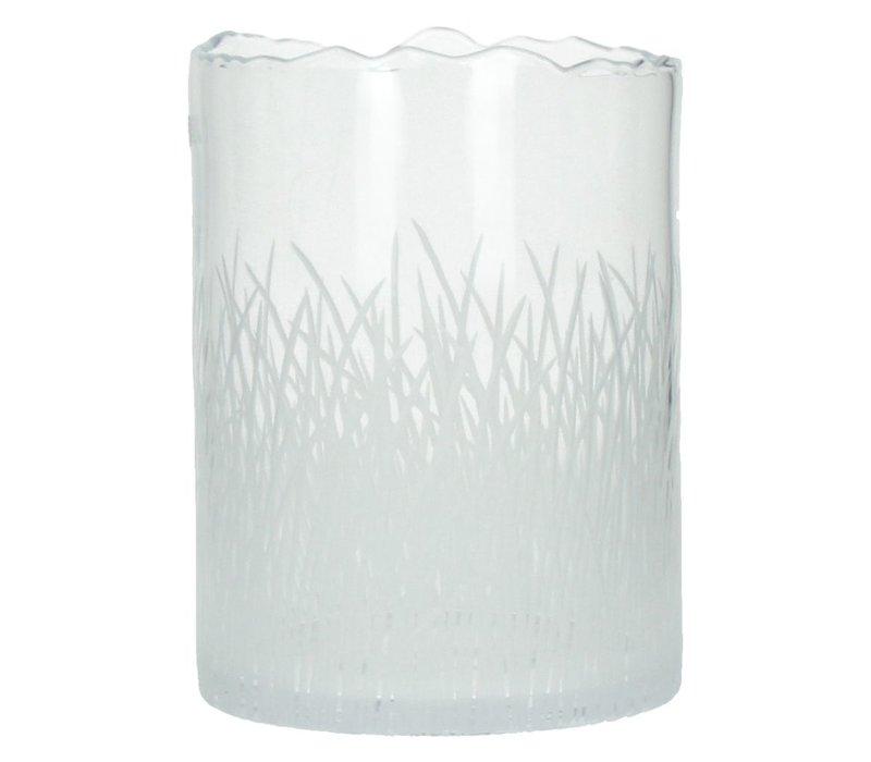 ENGRAVED vase or hurricane Large