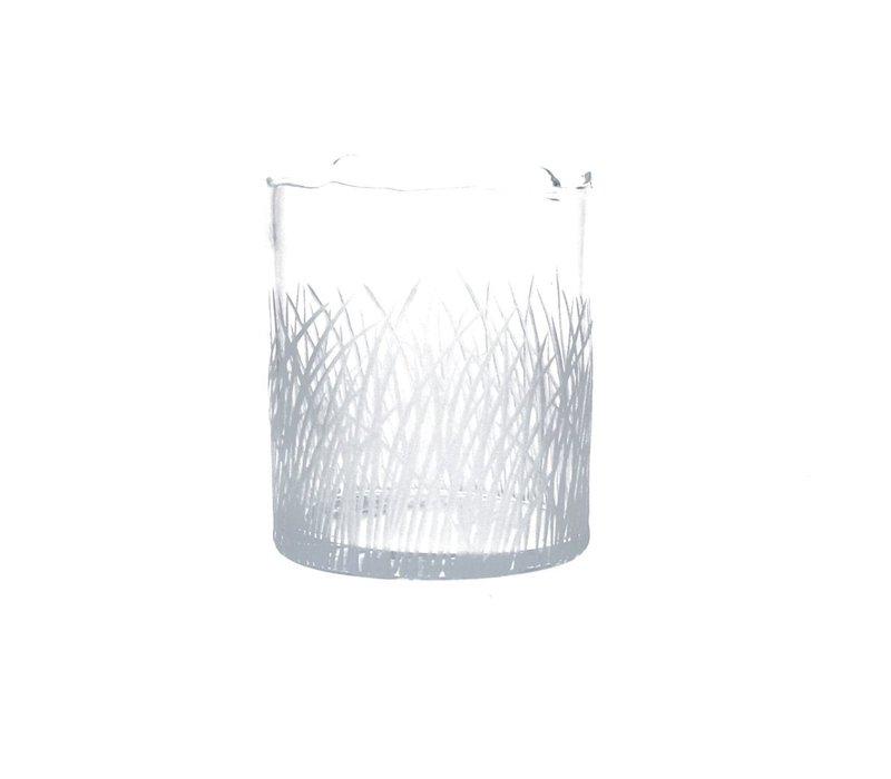 ENGRAVED vase or hurricane Medium