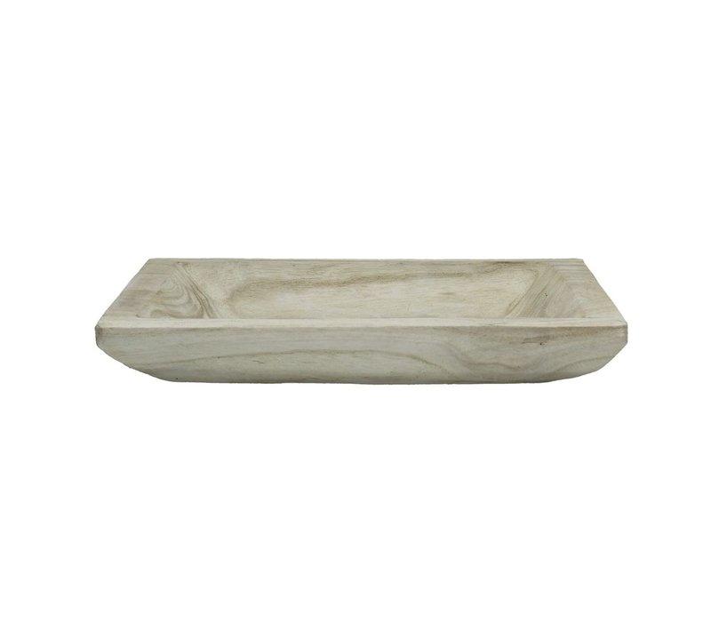 NATURE tray in white palownia - Medium