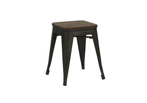 Homestore TILO stool with bamboo seat