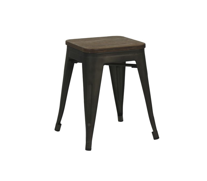 TILO stool with bamboo seat