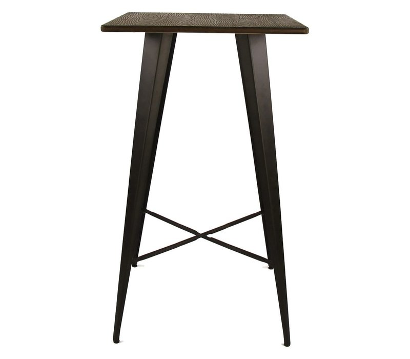 TILO bar table with bamboo top