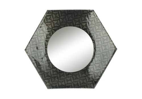 Homestore URBAN TOUCH mirror in black antique - 30x30 cm