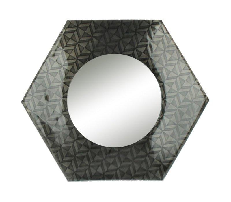 URBAN TOUCH mirror in black antique - 30x30 cm