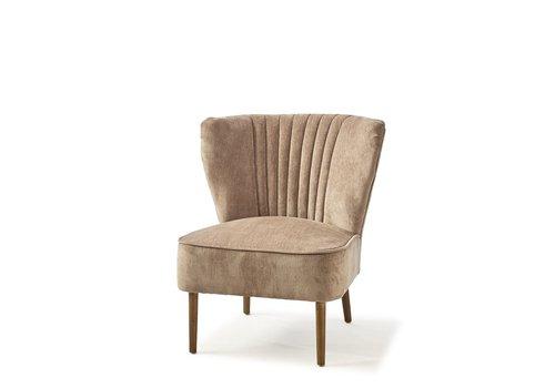 Homestore Pebble Beach Lounge Chair Velvet Dolphin