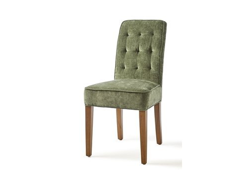 Homestore Madison Dining Chair, Velvet, Palm