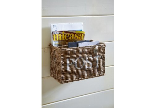Homestore Rustic Rattan Post Basket