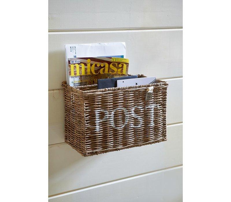 Rustic Rattan Post Basket