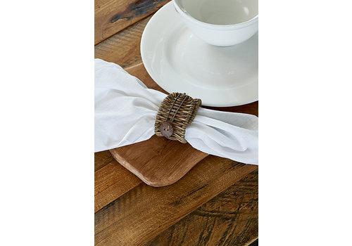 Homestore Rustic Rattan Folding Napkin Ring