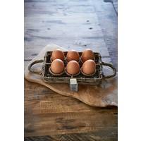 Rustic Rattan Egg Holder