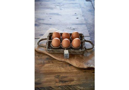 Homestore Rustic Rattan Egg Holder