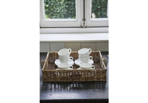 Homestore Rustic Rattan Resort Serving Tray