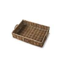 Rustic Rattan Resort Serving Tray