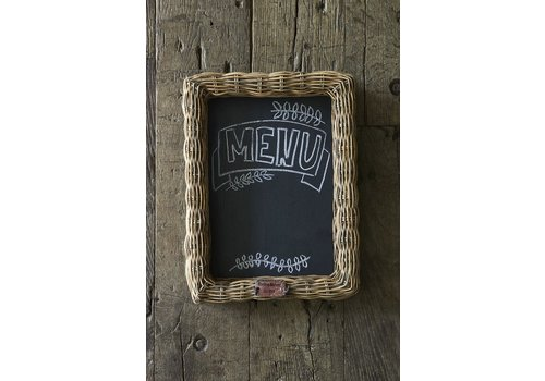 Homestore Rustic Rattan Shadow Chalk Board