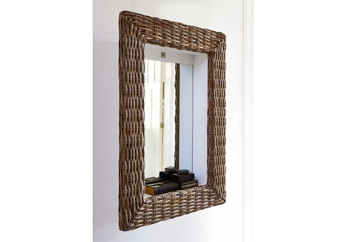 Homestore Rustic Rattan Shadow Mirror 62x86