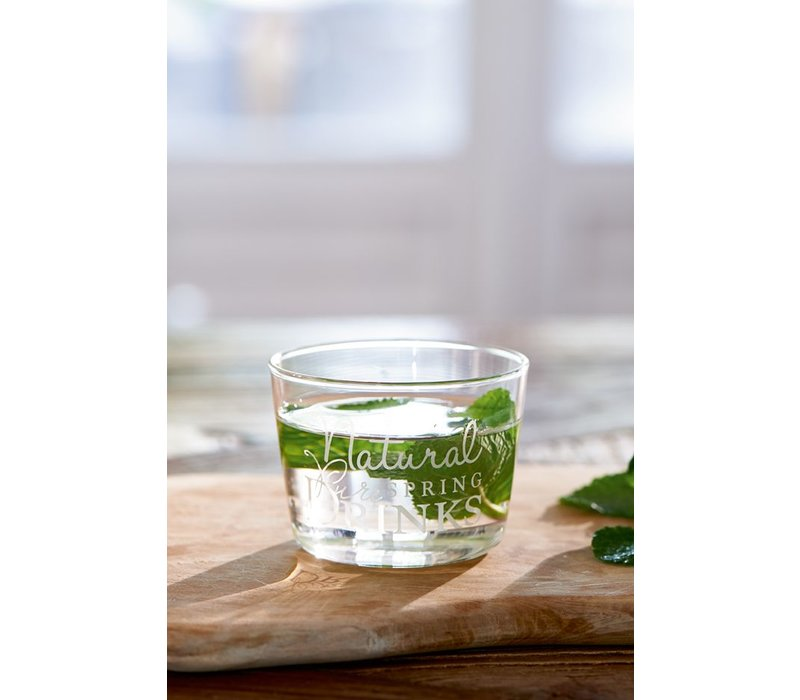 Natural Spring Drinks Glass