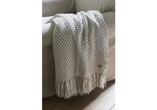 Homestore Saona Throw off white 170x130