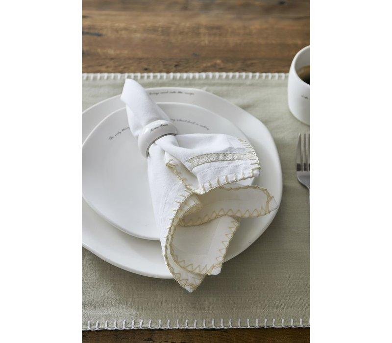 Pure Summer Napkin white flax